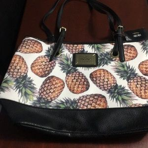Nicole Miller Pineapple Tote Bag